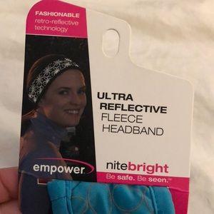 empower fitness Accessories - Reflective fleece workout headband